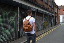 Meet The Model – Matthew Ewing / Male fashion model Matthew Ewing styling the Kurtis Paul leather range