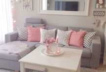 Sugar pink living room