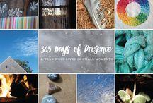 365 Days of Presence / http://ohmyhandmade.com/365days/ / by Oh My! Handmade