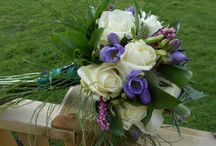 Scottish themed wedding flowers / British wedding flowers by Field Gate Flowers, florist and flower farmer in Buckinghamshire