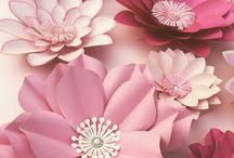 kwiaty z kartonu