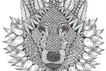 wolvenkop 3 / kleurplaat