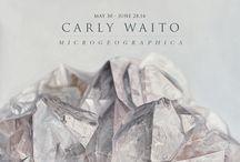 Carly Waito / A graduate of the Ontario College of Art and Design, Waito co-founded the ceramic art and design studio coe&waito with Alissa Coe in 2005. The partnership is known for its elegant products and sculptural installations inspired by the natural world. As a painter, Waito has continued to pursue this inspiration, with a focus towards geology, geometry and ideas of wonder and curiosity. Lives and works in Toronto, Canada.