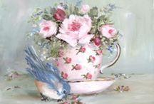 Bird cup art