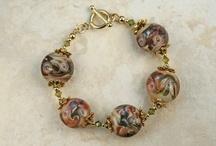 14K Gold Lampwork Bracelets