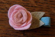 F is for Flower Crafts / Flower crafts of all kinds - fabric, yarn, beads, and more