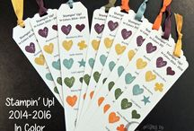 Stampin' Up! In Colors / Limited time offering of new Stampin' Up! Colors - ink, cardstock ribbon, and accessories!  Purchase your In Color craft supplies here:  www.PattyStamps.com / by Patty Bennett