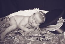 Infant Photos / Beautiful little baby girl born to a military couple.