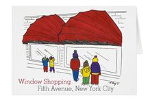 NYC Holiday Cards / NYC-themed greeting cards for Christmas and Hanukkah!