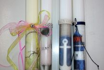 Easter candles by Sophia
