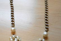 Jewelry - Pearl / Collection of ideas to reuse fake pearls in jewelry making - necklace, bracelet, ring