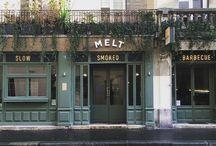 Melt / DA et architecture d'intérieur du restaurant, pour antoine Martinez et Jean Ganizate. Texan BBQ. 74 rue de la Folie Méricourt, 75011 https://www.facebook.com/meltparis
