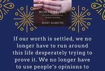 Worth Living / Mary DeMuth's newest book