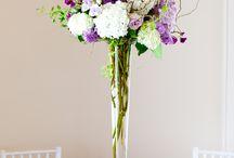 hortensja dekoracje wesele / dekoracje sal weselnych z hortensji