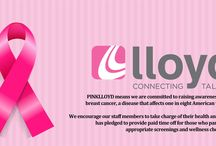 #PINKLLOYD  / LLoyd Staffing is thinking pink for October! By wearing pink around the office, LLoyd is celebrating our survivors and spreading awareness of this terrible disease which affects one in eight women