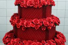 Красные торты