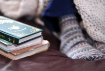 cozy / socks, sweaters, cups and books