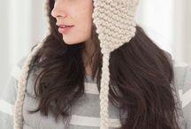 шапка-ушанка спицами