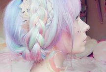 Vlasy farby dúhy