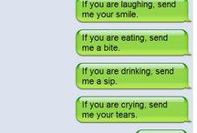 texting is strange