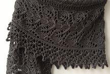 Knitting shawls / Knitted shawls