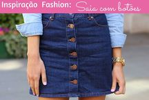 Button skirt - Fashion / Button skirt - Fashion  moda, saia, fashion, trend, blogger, toda charmosa