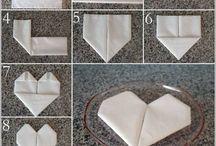 pliage de serviettes de table