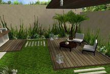 jardín y roof