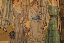 La premiere guerre costumes de dames / 1st war women's costumes I wojna światowa stroje damskie