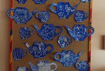 šálky a čajníky