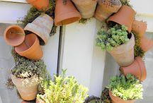 Blumentopf  / Basteln mit Tontöpfen
