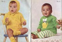 baby, gamle strikkeoppskrifter