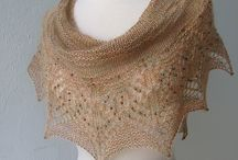 Wedding knit shawl