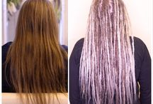Before and after dreadlocks