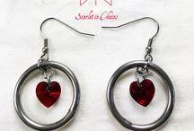 Scarlet in Chains Earrings