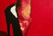 Pin Up Pop Art d'Olivier R. / Peintures sur toile, acrylique, façon pop art