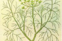 Herbarium / Todo tipo de hierbas bordadas
