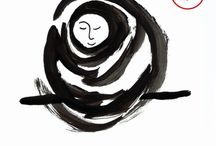 Zen tekeningen / Meditatie, illustraties, spreuken, inspiratie, koan, boeddhisme, mindfulness, Jizo