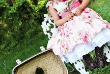 Tattered Petals and Pettiskirts by Handmaiden's Cottage / Creative Inspirations for the Tattered Petals and Pettiskirts Girl's Dress PDF Sewing Pattern by Handmaiden's Cottage