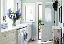 Laundry Room / Let's face it, no one likes to do laundry.  Having an organized and beautiful space to do it in just might change your mind.