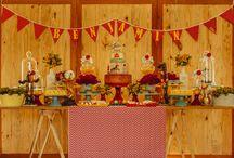 Decoração festa circo / Decoração de festa com tema circo, festa de menino, cores primárias.