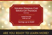 Nourish Holiday Gift Packages / Check out these amazing Nourish personal cooking service gift packages and clever ideas for presenting your Nourish gift certificate.
