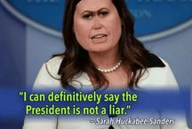 Sarah Sanders Caricatures / Quotes - Humor