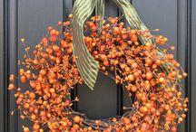 Fall decorations / by Ellen Swiggum Rylander
