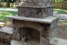 Outdoor Fire / Archadeck designs and builds fireplaces, firepits - we are a complete outdoor living company - from sunrooms and porches to retaining walls, outdoor kitchens and outdoor fireplaces.  Outdoor Fireplace Builder / by Archadeck Outdoor Living