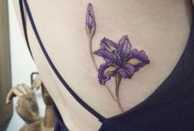 Iris Flower Tattoos