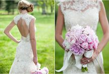 LBE / Stephanie + Nathan / Inspiration for Stephanie & Nathan's October 2012 wedding. Colors are gray, light blue, ivory, champagne and blush pink/peach. www.laurabirneyevents.com