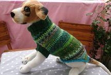 Hundepullover / Mollig warme, bunte Hundepullover - handgestrickt aus robuster Sockenwolle
