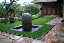 Balinese style gardens