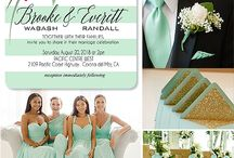 wedding in color mint and gold